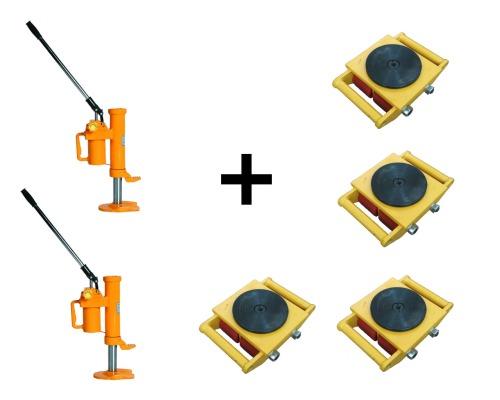 Комплект Такелажные платформы 24т + домкраты с низким подхватом 20т
